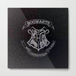 Cosmic Hogwarts Crest HP Metal Print