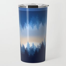 Winter Pines Reflected Travel Mug
