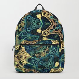Mandala Star Fractal - Manafold Art - Mandlebulb Backpack