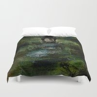 chinese Duvet Covers featuring Chinese shade by Joe Ganech