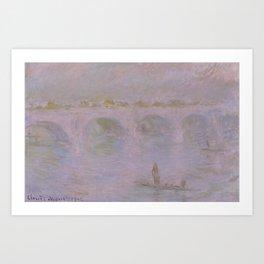 Claude Monet - Waterloo Bridge in London.jpg Art Print