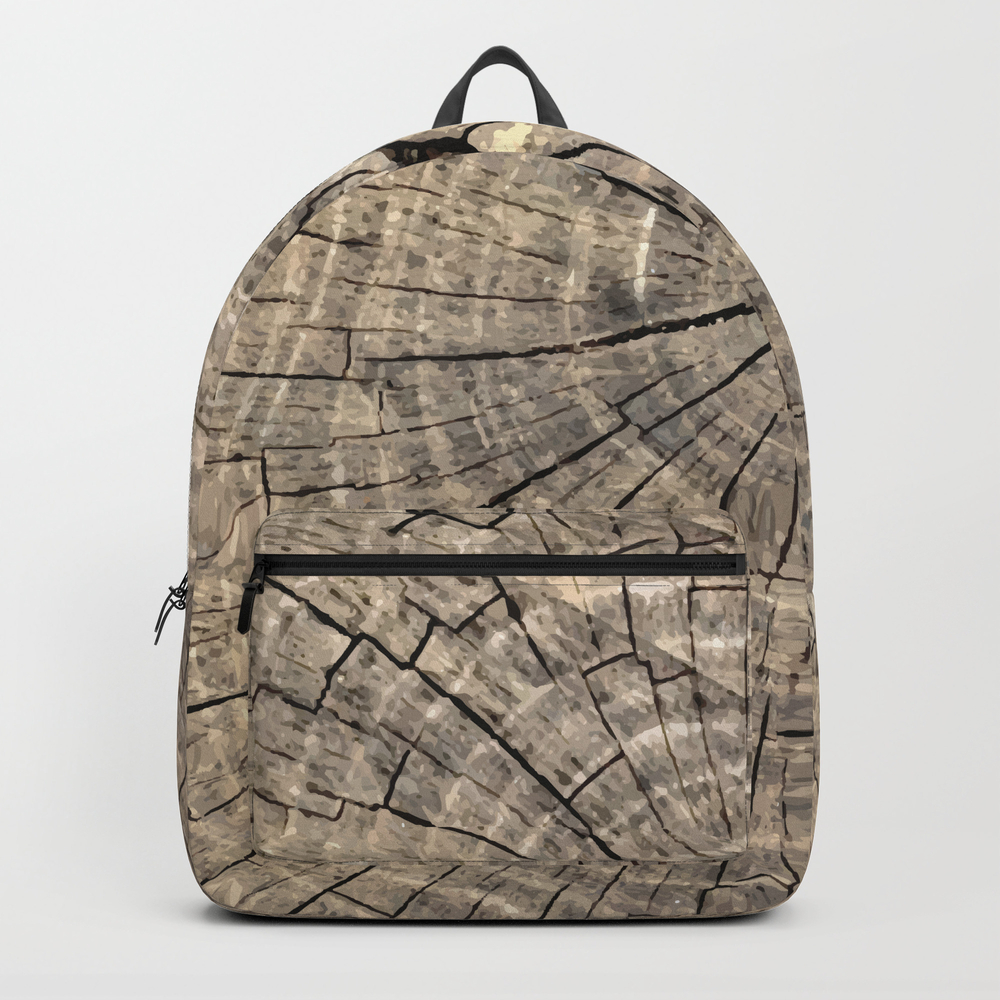 Woodland Forest Tree Trunk Wood Grain Rustic Natur… Backpack by Meganmorrisart BKP8871232