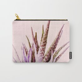 Duotone Aloe Vera on pastel Coral Carry-All Pouch