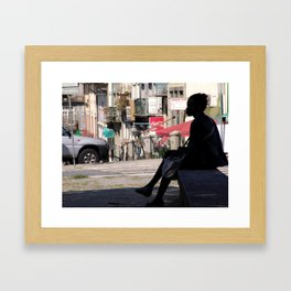 Thinker Bench Framed Art Print