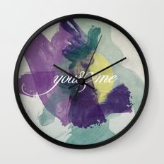 you&me Wall Clock