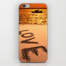 Love Written in the Sand iPhone Skin
