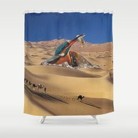 oasis Shower Curtains featuring Oasis by Lerson