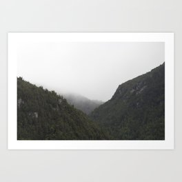 The Misty Mountains Call Art Print