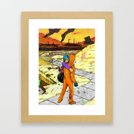 Post Apocalyptic Love Story Framed Art Print