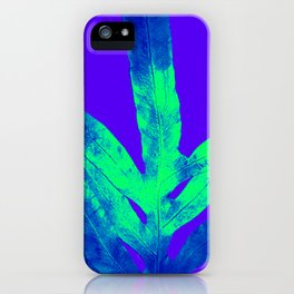 Blue Ultraviolet Green Earth Day Fern iPhone Case