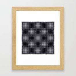 Black and Lilac Gray Polka Dots Framed Art Print