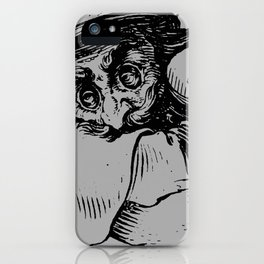 Gobbi in Grey iPhone Case