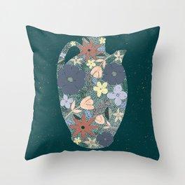 Pour Life // Botanical Jar // Floral Pitcher Throw Pillow