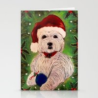 westie Stationery Cards featuring A Very Westie Christmas by Heidi Clifton