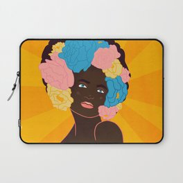 lady with flowers in her hair Laptop Sleeve
