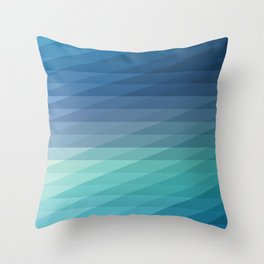 Fig. 042 Blue Geometric Diagonal Stripes Throw Pillow