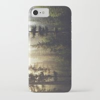 golden iPhone & iPod Cases featuring Sunrise Forest by Kevin Russ