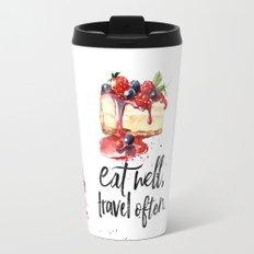 Fernando Pessoa - quote about chocolate Travel Mug
