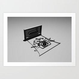 band camera Art Print