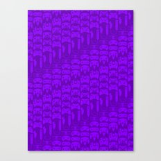 Video Game Controllers - Purple Canvas Print