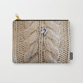 Cable Knit Safety Pin Carry-All Pouch