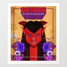 Demon of the Rayless Island Art Print