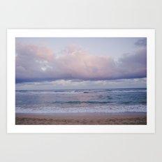 Pastel Beach - Kauai, HI Art Print