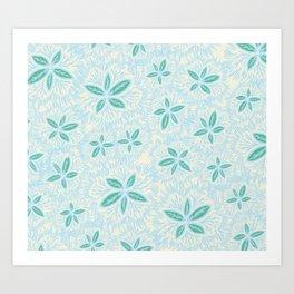 Sea Blue Lily Flower Art Print