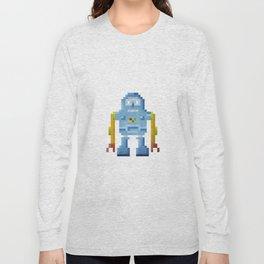 Blue pixel robot #1 Long Sleeve T-shirt