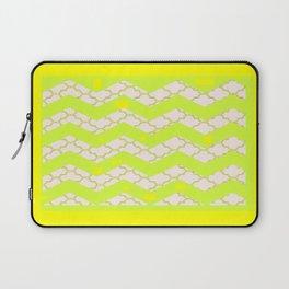 Modern Abstract Lemon Chiffon Color Art Pattern  Laptop Sleeve