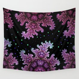 Magical fantasy patterns in purple, pink and green Wall Tapestry