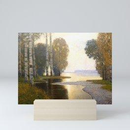 Landscape with Birches - Latvian Lettish Fine Art - Purvitis Mini Art Print