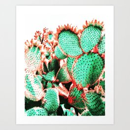 Cactus - watetcolor II Art Print