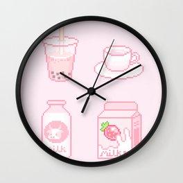 pink drinks Wall Clock