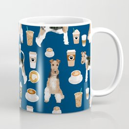 Wire Fox Terrier coffee dog pattern dog lover gifts for dog person dog breeds pet friendly Coffee Mug