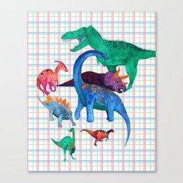 Triassic Plaid Canvas Print