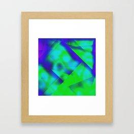 Green Color Package Framed Art Print