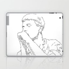 Ian Curtis WordsPortrait Laptop & iPad Skin