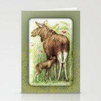 elk Stationery Cards featuring Elk by Natalie Berman