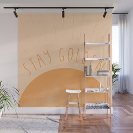 Stay Golden,Vintage Sun Wall Mural