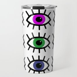 Open Your Eyes - Festival Pattern Travel Mug