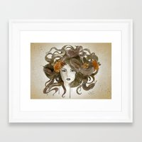 medusa Framed Art Prints featuring Medusa by Marine Loup