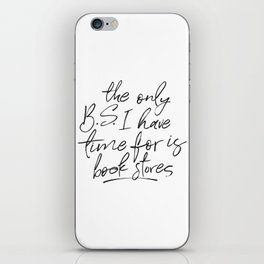 BS and Book Stores iPhone Skin