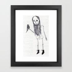 just chillen holding a raven Framed Art Print