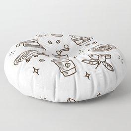 Coffee Doodles Floor Pillow