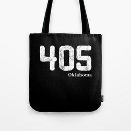 405 Oklahoma Area Code, distressed vintage design for Oklahoma City Area of central Oklahoma. Tote Bag