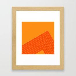 Orange Crush Range Framed Art Print