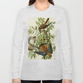 American Sparrow Hawk (Falco sparverius) Long Sleeve T-shirt