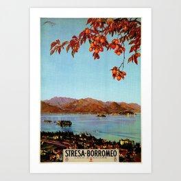 Stresa Borromeo Lake Maggiore 1927 Art Print