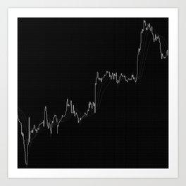 Forex candlestick chart Art Print